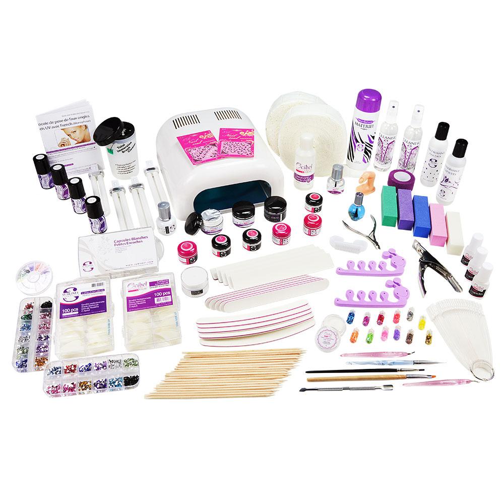 kit xxxl manucure faux ongles 36w gel uv monophase manucure ongles nail art ebay. Black Bedroom Furniture Sets. Home Design Ideas