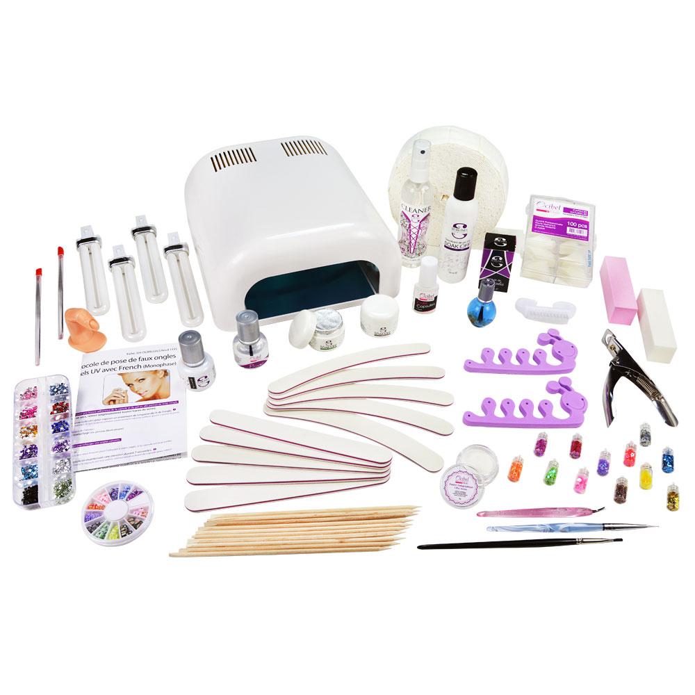 kit manucure faux ongles 36w gel uv led soak off monophase nail art ebay. Black Bedroom Furniture Sets. Home Design Ideas