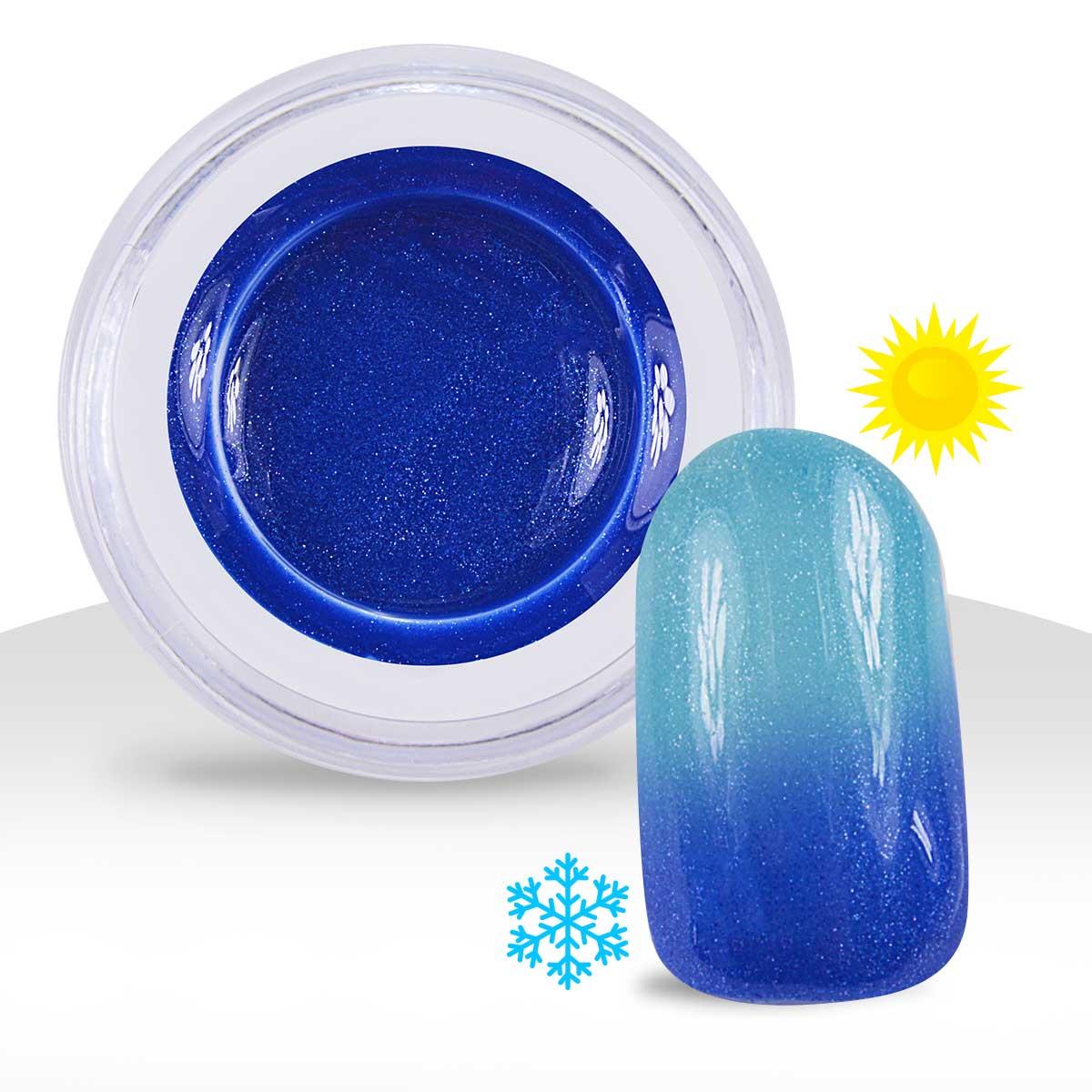 gel uv couleur m tallis thermo bleu fonc bleu lagon 5ml manucure ongles na ebay. Black Bedroom Furniture Sets. Home Design Ideas