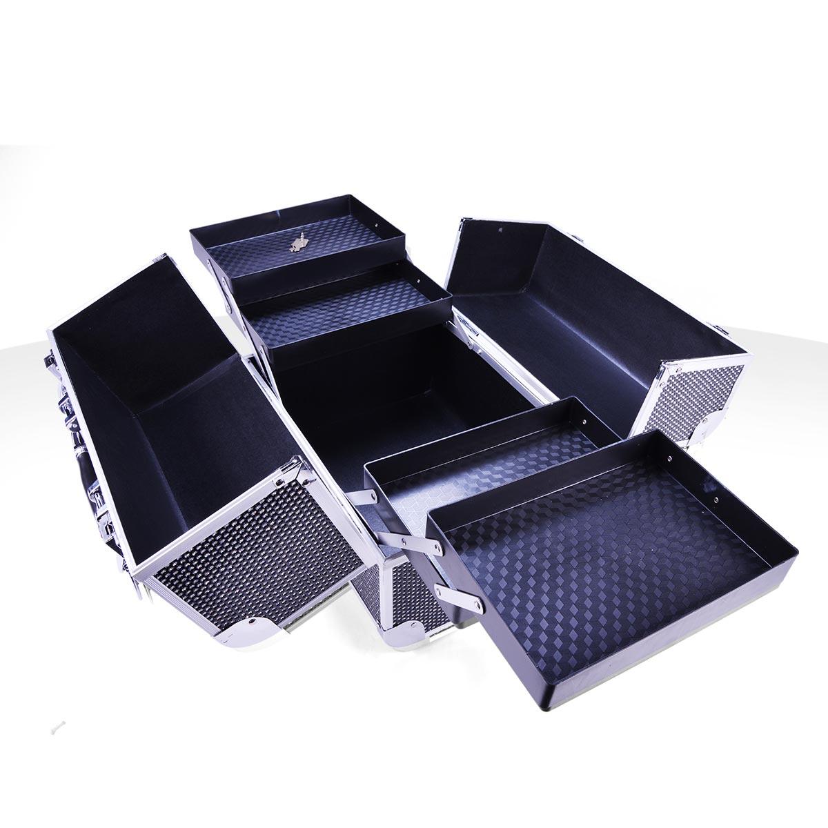 mallette de rangement noire effet strass manucure et maquillage vendeur fran ais. Black Bedroom Furniture Sets. Home Design Ideas